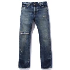 REMAKE NARROW DENIM PANTS