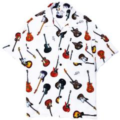 S/S RAYON FULL COLOR GUITAR SHIRT