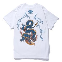 WASHED LIGHTNING DRAGON POCKET TEE