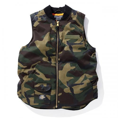 CAMOUFLAGE REFLECTED DOWN VEST