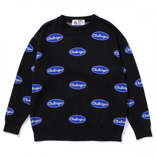 LOGO RULED SWEATER