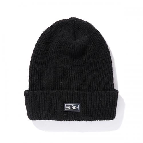 RUBBER PATCH KNIT CAP