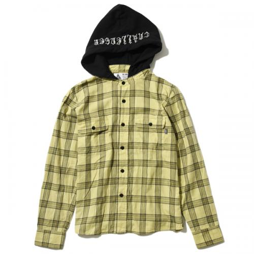 HOODED CHECK SHIRT