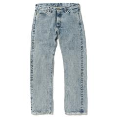 CHEMICAL WASHED DENIM PANTS