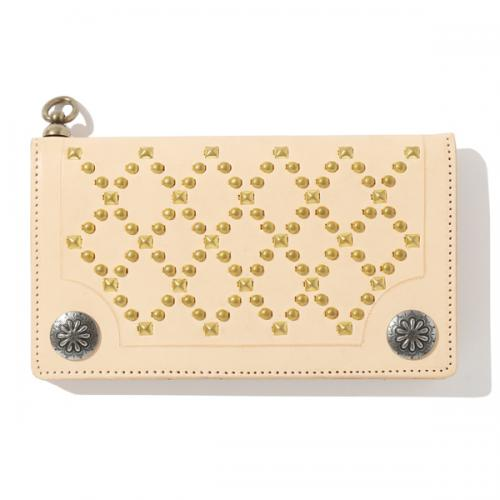 LEATHER STUDS WALLET